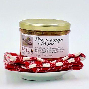 Pâté de campagne au foie gras 180 g