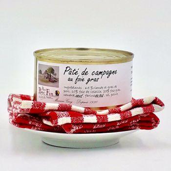 Pâté de campagne au foie gras 190 g