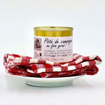 Pâté de campagne au foie gras 90 g